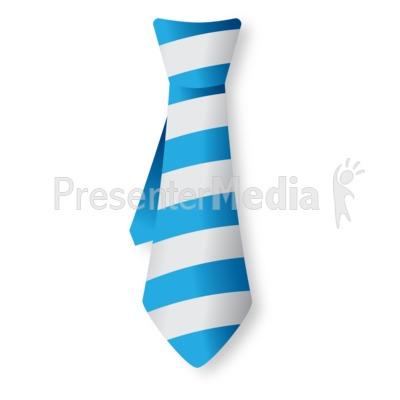 Striped Tie PowerPoint Clip Art