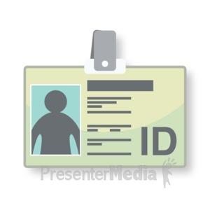 ID# 16819 - Identification Tag - Presentation Clipart