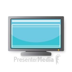 ID# 16820 - Computer Monitor - Presentation Clipart