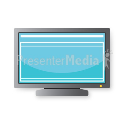 Computer Monitor PowerPoint Clip Art