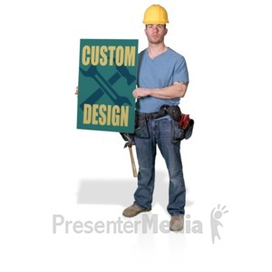 ID# 16879 - Construction Hold Sign - Presentation Clipart