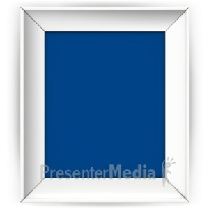 ID# 16890 - Front Picture Frame - Presentation Clipart
