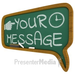 ID# 16984 - Chalkboard Callout Custom Bubble - Presentation Clipart