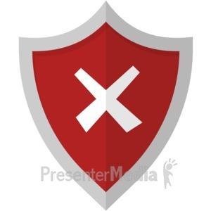 ID# 17028 - X Cross Shield - Presentation Clipart