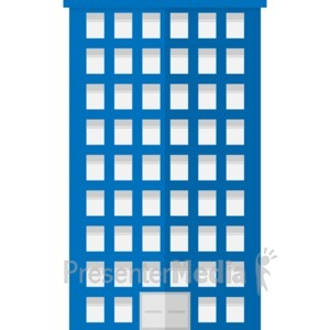 ID# 17059 - City Apartment Building - Presentation Clipart