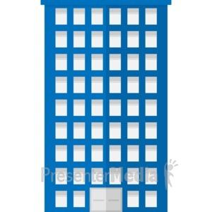 ID# 17059 - City Apartment Building - Presentation Clipart