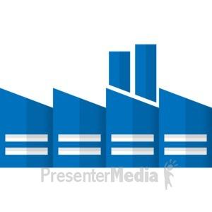 ID# 17060 - City Factory Building - Presentation Clipart