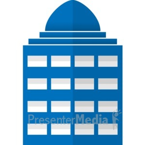 ID# 17061 - City Office Building - Presentation Clipart