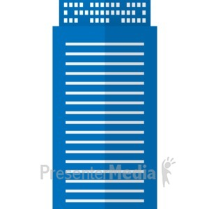 ID# 17062 - High Rise City Office Building - Presentation Clipart