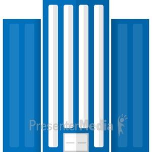 ID# 17064 - High End City Building - Presentation Clipart