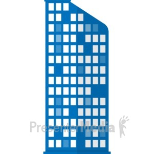 ID# 17065 - City Apartment Building - Presentation Clipart