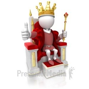 ID# 17098 - King Give Thumbs Up - Presentation Clipart