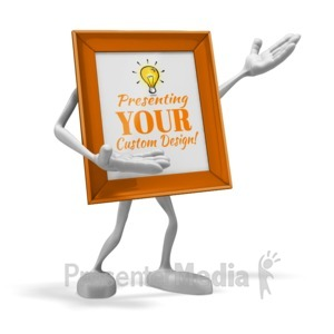 ID# 17111 - Picture Frame Presenter - Presentation Clipart