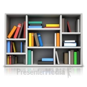 ID# 17112 - Book Compartment Shelving - Presentation Clipart