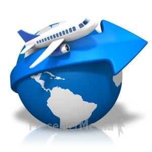 ID# 17116 - World Arrow Airplane - Presentation Clipart