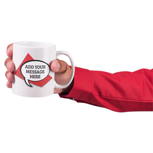 ID# 17141 - Hand Hold Coffee Mug Custom - Presentation Clipart