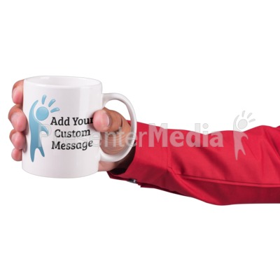 Hand Hold Coffee Mug Custom Presentation clipart