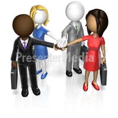 Business Team Huddle Custom Presentation clipart