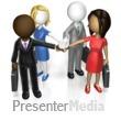ID# 17144 - Business Team Huddle Custom - Presentation Clipart