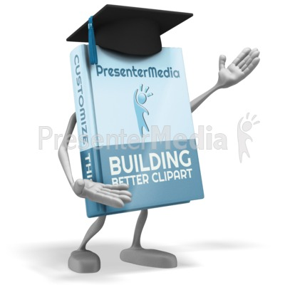 School Book Presenter Presentation clipart