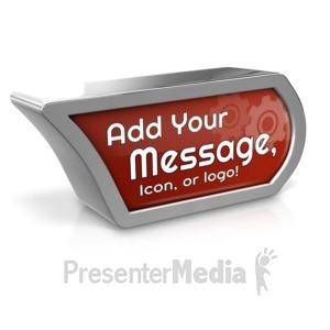 ID# 17168 - Custom Icon Marker - Presentation Clipart