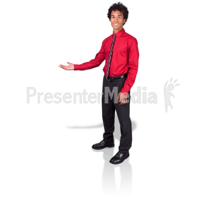 Young Man Gesture Side PowerPoint Clip Art