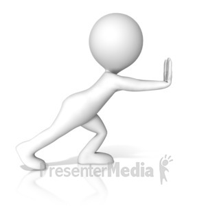 ID# 17194 - A Figure Pushing - Presentation Clipart