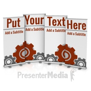 ID# 17198 - Four Custom Roller Banners - Presentation Clipart