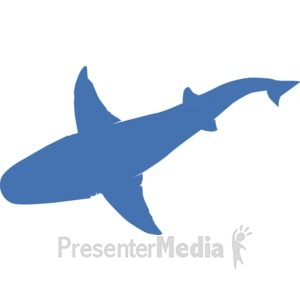 ID# 17230 - Top Shark Body Silhouette - Presentation Clipart