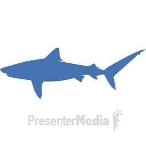ID# 17231 - Tiger Shark Silhouette - Presentation Clipart