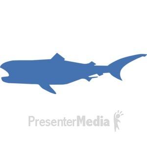 ID# 17233 - Megamouth Silhouette - Presentation Clipart