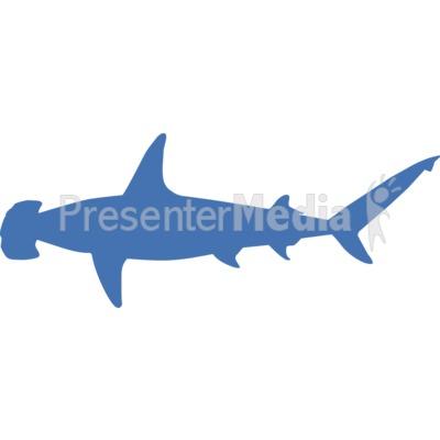 Hammerhead Shark Silhouette PowerPoint Clip Art