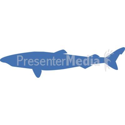 Greenland Shark Silhouette PowerPoint Clip Art