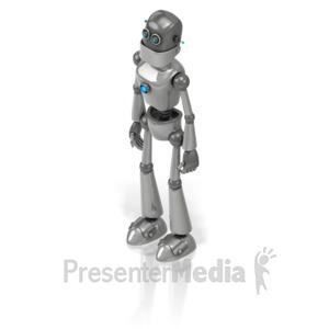 ID# 17267 - Retro Robot - Presentation Clipart