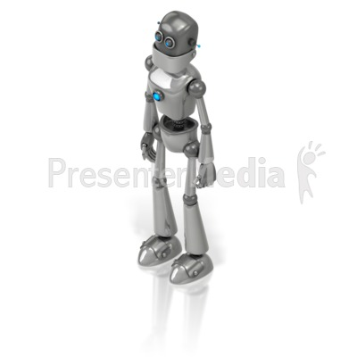 Retro Robot PowerPoint Clip Art