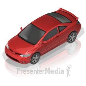 ID# 17269 - Compact Car - Presentation Clipart