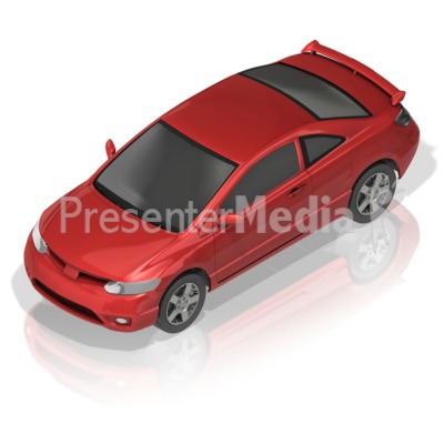 Compact Car PowerPoint Clip Art