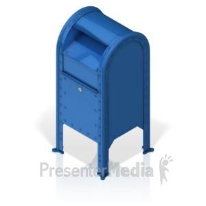 ID# 17272 - Mailbox - Presentation Clipart