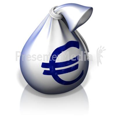 Euro Money Bag PowerPoint Clip Art