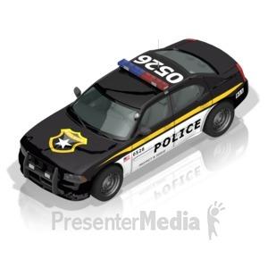 ID# 17296 - Police Car - Presentation Clipart