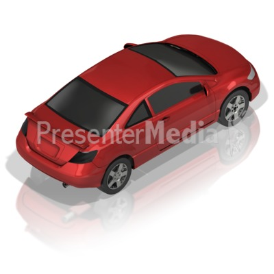 Compact Car Back PowerPoint Clip Art