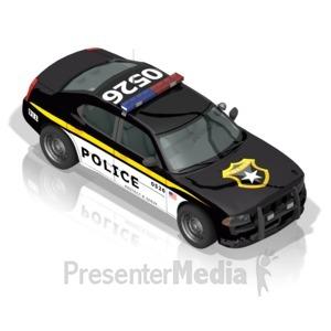 ID# 17305 - Police Car - Presentation Clipart