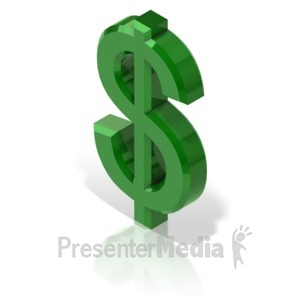 ID# 17310 - Dollar Symbol - Presentation Clipart