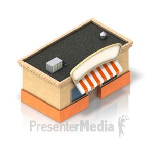 ID# 17311 - Shop Building Icon - Presentation Clipart