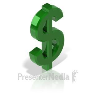 ID# 17312 - Dollar Symbol Alt - Presentation Clipart