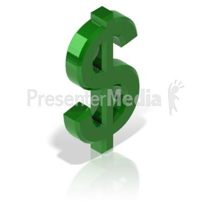 Dollar Symbol Alt PowerPoint Clip Art