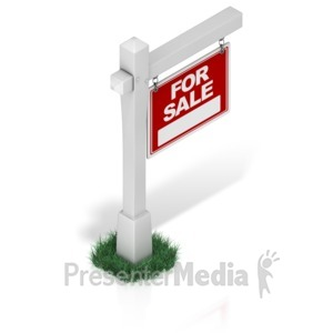 ID# 17324 - Real Estate Sign - Presentation Clipart