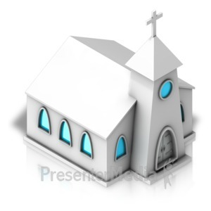 ID# 17327 - Church Forward Isometric - Presentation Clipart