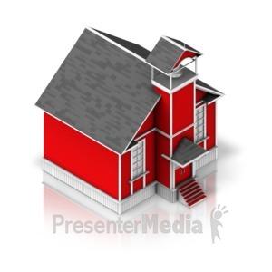 ID# 17329 - School House - Presentation Clipart