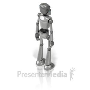 ID# 17336 - Retro Robot Back - Presentation Clipart